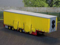 Tiefbetttrailer für Baggertransporte