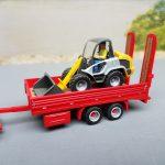 Tandem-Anhänger für den Baumaschinentransport