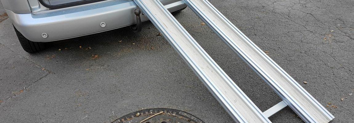 Auffahrrampe für Transportkisten