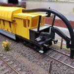 Modell des Railcare Abraum-Saugbaggers RAUK-6