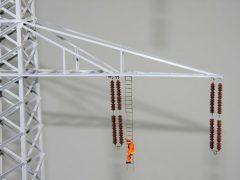 380 kV Hochspannungsmast als Modell