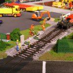 Ausstellungsplatten mit großem Betriebshof und Hafengelände