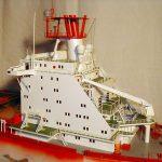 Modell des Containerschiffs Monte Rosa
