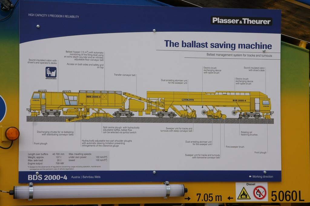 Plasser & Theurer Schotterverteil- und -planiermaschine BDS