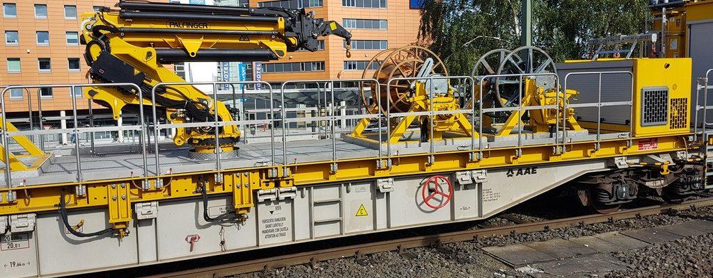 Trommelwagen für Oberleitungsbau