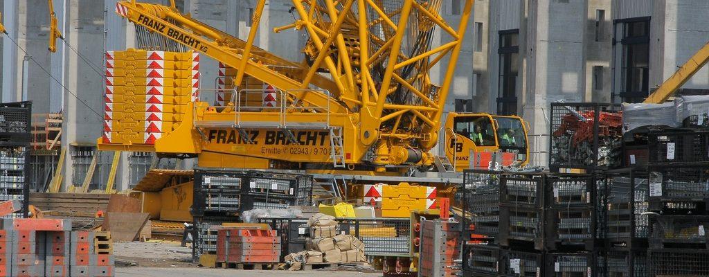 Terex CC3800 von Bracht beim Bau einer Halle