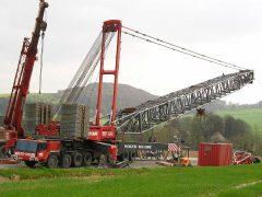 Liebherr LGD1550 von Nolte beim Bau einer WKA