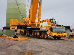 Liebherr LTM11200 von McNally bei Bau von WKA
