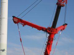 Liebherr LTM1350 von Megalift bei WKA-Reparatur