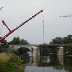 Liebherr LTM1500 von Nolte beim Brückenbau