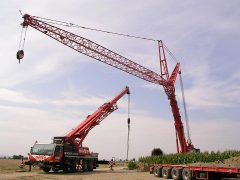 Liebherr LTM1500 von Nolte beim Bau von WKA