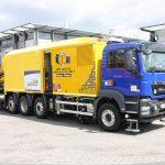 Plasser & Theurer Mobiler 2-Wege Schienenschweißroboter APT 1500 RL