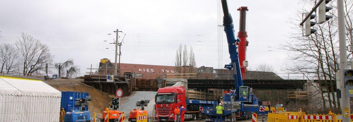 Neubau von Eisenbahnbrücken in Hannover – Vorbereitung der Sperrpause