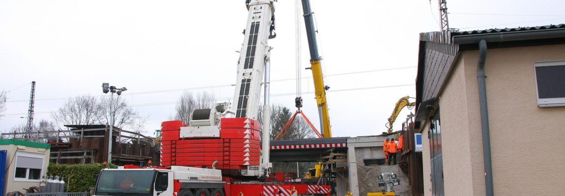 Neubau von Eisenbahnbrücken in Hannover – Einbau der neuen Brücken