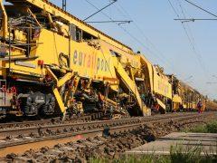 Gleisbau auf der Strecke Weetzen – Ronnenberg