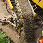 Gleisbau Weetzen-Ronnenberg - Einbau Planumsschutzschicht
