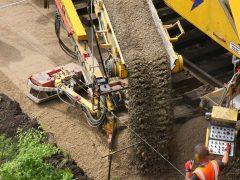 Gleisbau Weetzen-Ronnenberg – Einbau Planumsschutzschicht