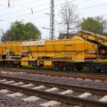 Gleisbau Weetzen-Ronnenberg - Beladevorgang Bunkerwagen MFS-100