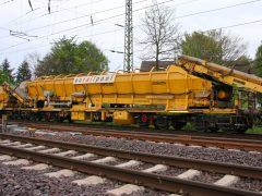 Gleisbau Weetzen-Ronnenberg – Beladevorgang Bunkerwagen MFS-100
