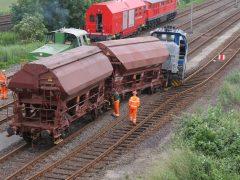 Entgleisung einer Rangierlokomotive in Sehnde