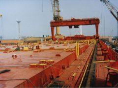 Containerschiff Monte Rosa im Trockendock