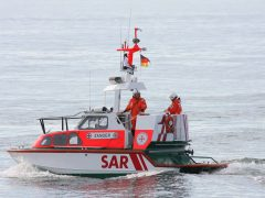 Seenotrettungsboot Zander im Übungseinsatz
